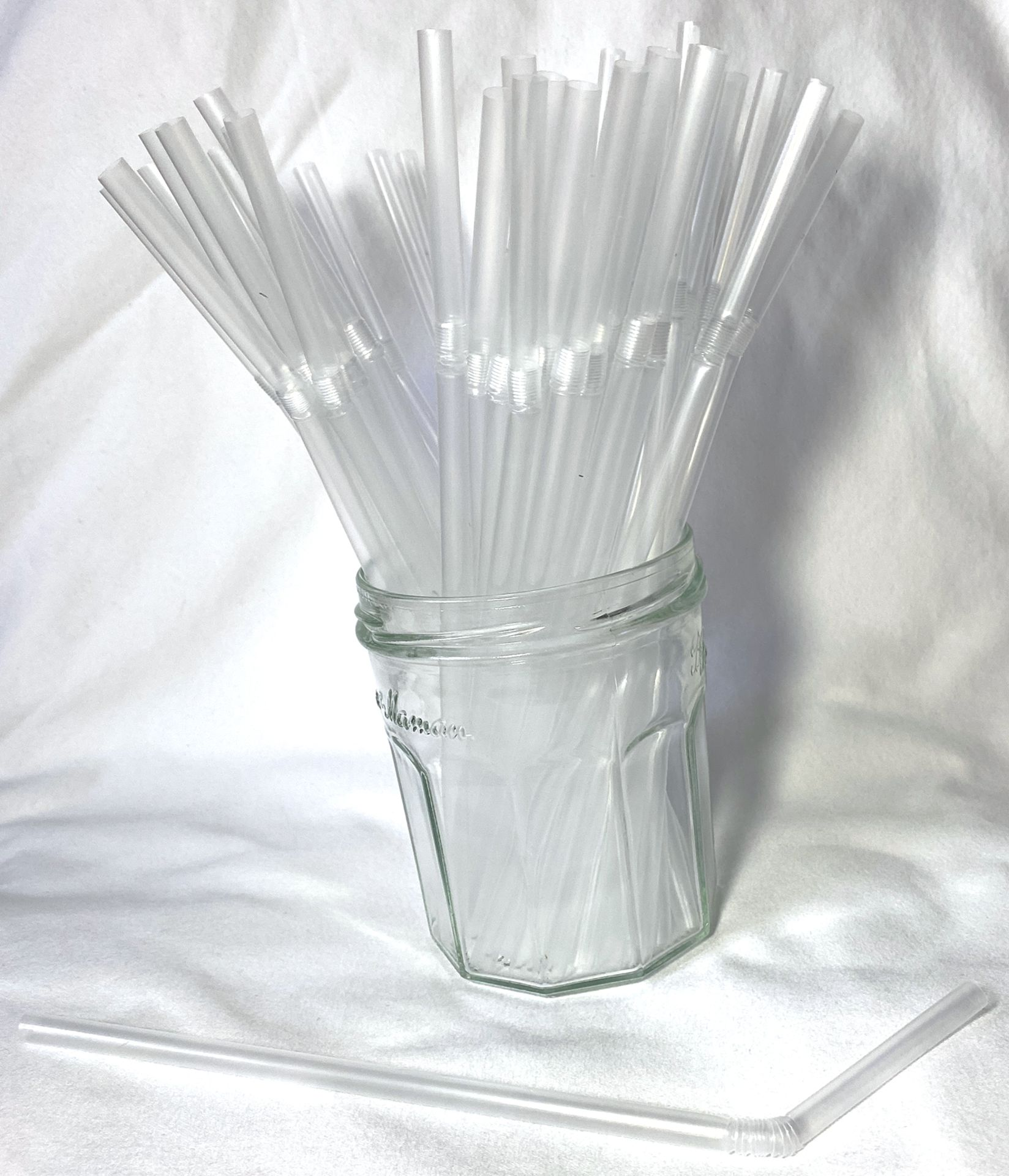 Lot 332 - 5 x Boxes of Clear Flexi Straws by 888 Gastro Disposables