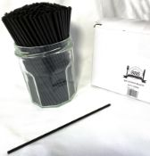 5 x Boxes of Black Sip Straws by 888 Gastro Disposables