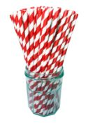 1 x Box of Candy Twist Paper Straws by 888 Gastro Disposables