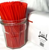 5 x Boxes of Red Sip Straws by 888 Gastro Disposables