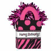 1 x Box Tote Weights 'Pink Happy Birthday'
