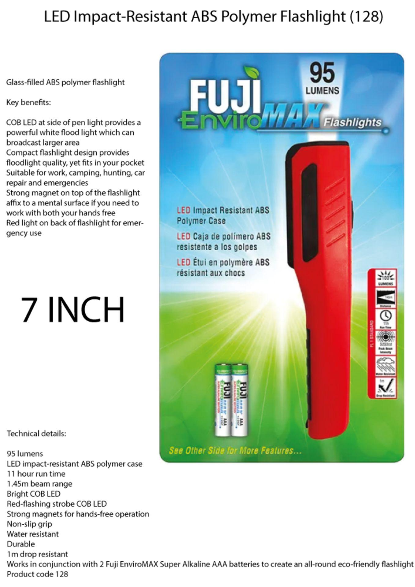 Lot 58 - 6 x Fuji EnviroMax 95 Lumens LED Flashlight