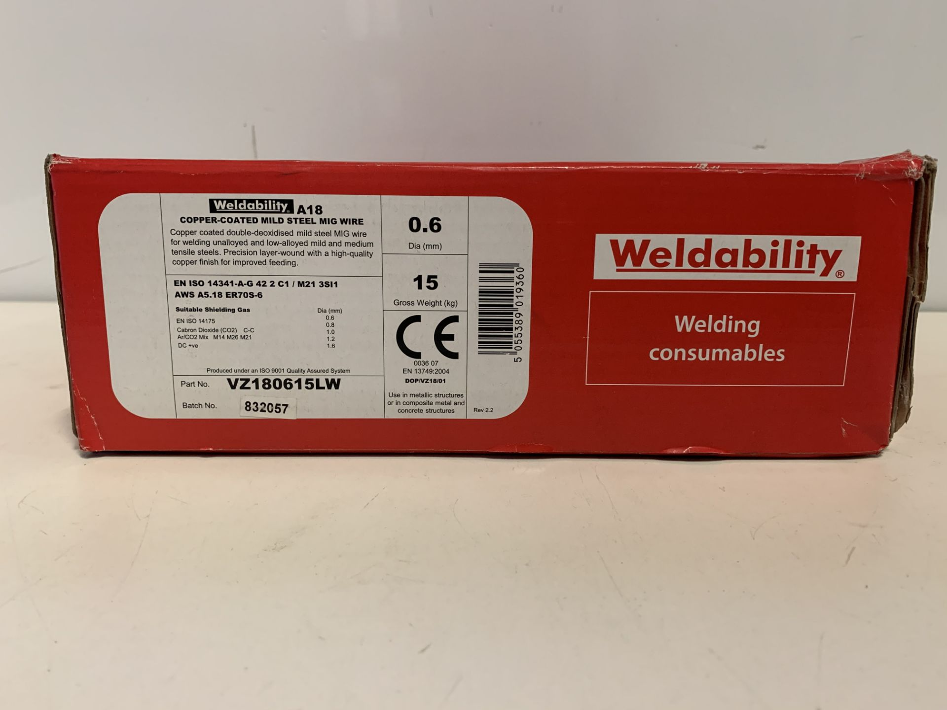 Lot 11 - 2 x 1WELDABILITY VZ180615LW SIF A18/G3SI1 MIG WIRE 0.6MM 15KG