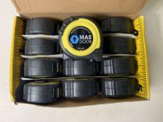 12 x Advent Professional Tape Measure 8m/27ft