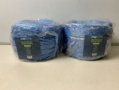 2 x Rolls of Perry Polypropylene Film Rope