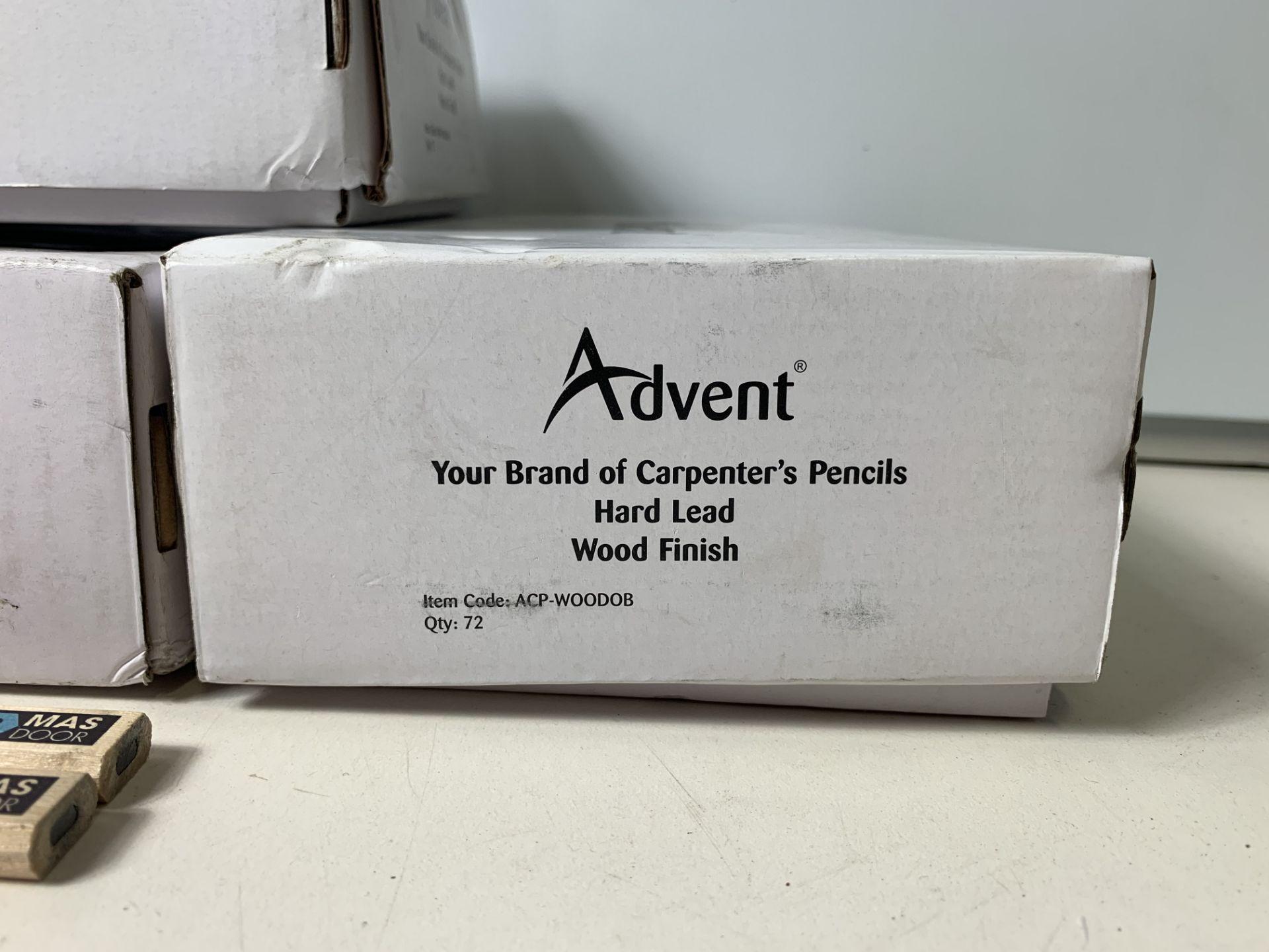 Lot 68 - 4 x Boxes of 72 Advent 'Mas Door' Carpenter's Pencils