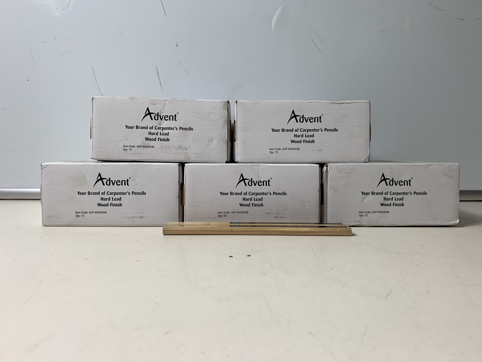 5 x Boxes of 72 Advent 'Mas Door' Carpenter's Pencils