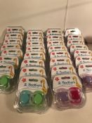 30 x Packs of Coloured Soothers