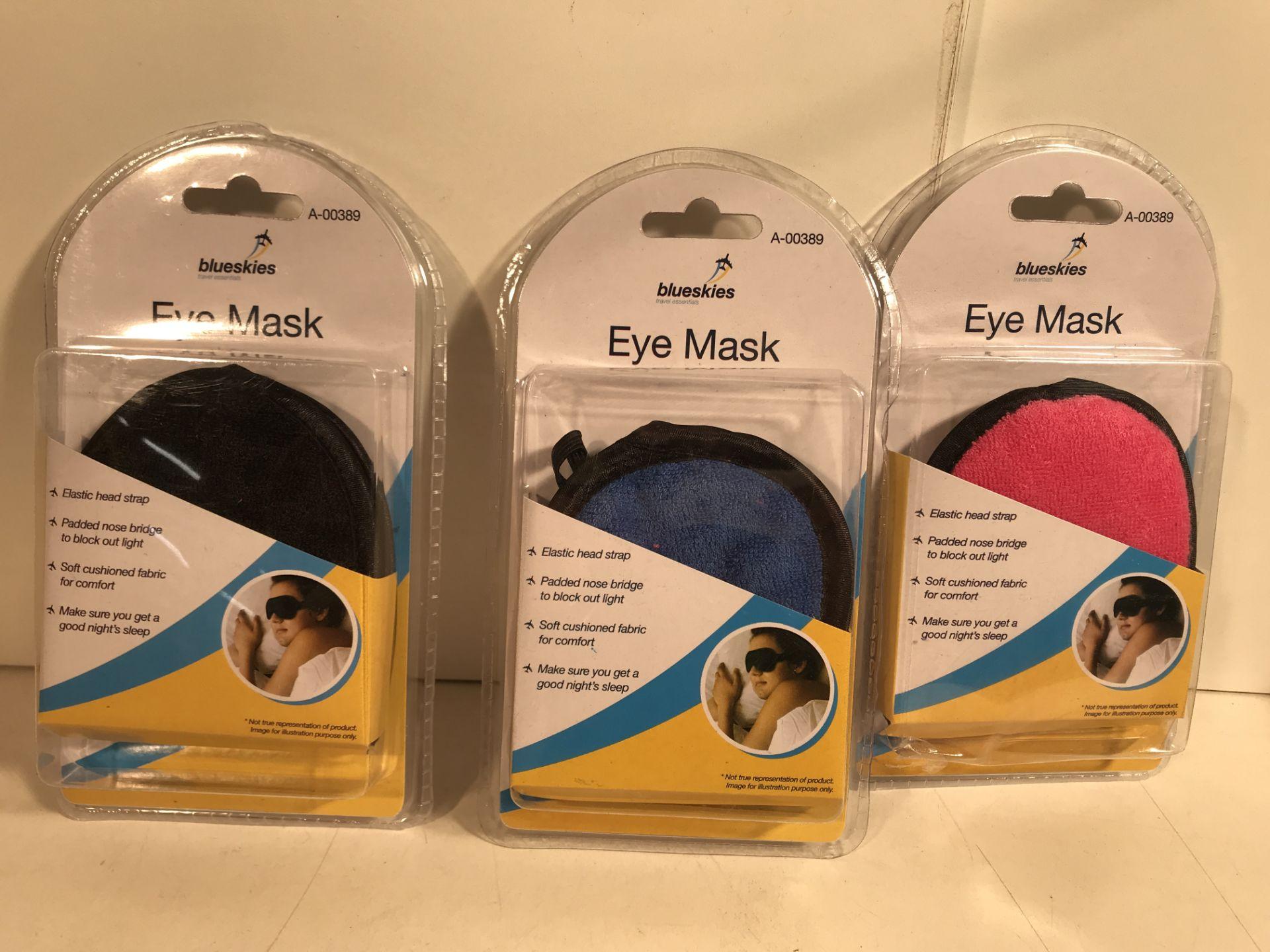 Lot 45 - 16 x Various Coloured Eye Masks