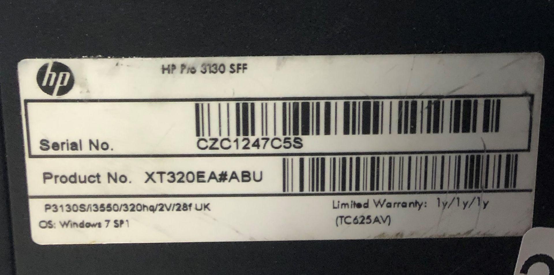 Lot 18 - HP Pro 3130 SFF Desktop Computer