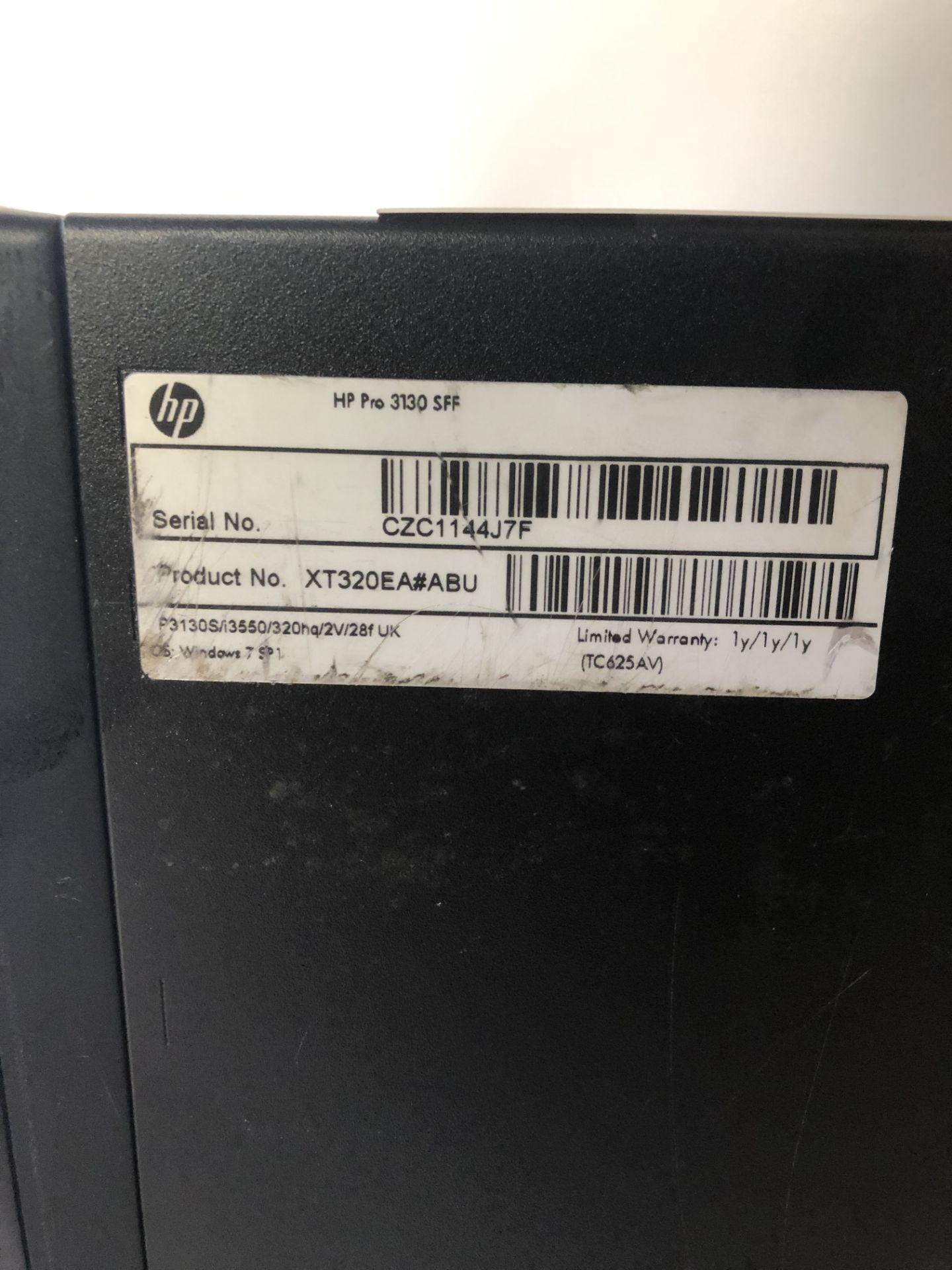 Lot 9 - HP Pro 3130 SFF Desktop Computer