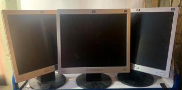 8 x Hp 1710 17'' Computer Monitors