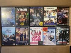 Box Contaning Approximatley 255 x DVD's