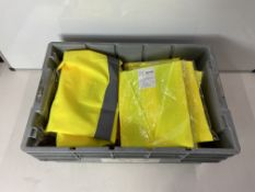 40 x Various Sized Unbranded Yellow Luminous High Visability Vests