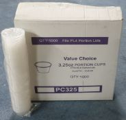 2 x Boxes of Portion Cups/Lids by Value Choice | DSP67 | DSP68