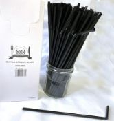 2 x Boxes of Flexible Bottle Straws by 888 Gastro Disposables   DSP47
