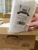 2 x Boxes of 1000 White Plastic Knives by 888 Gastro Disposables | DSP4