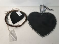 16 x Love Heart Chalk Board Sets