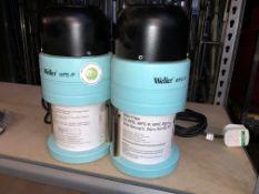 2 x Weller WFE-P Zero Smog Fume Extractors