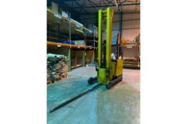 Jungheinrich ETV320 Side Loader Truck w/ Carpet Broom Attachment