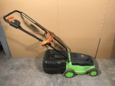 240v Wired Lawn Mower w/ Grass Container