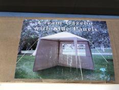 Cream Gazebo with Side Panels
