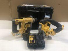 Dewalt DCH253 Rotary Hammer Drill & DCS331 Jigsaw in Case