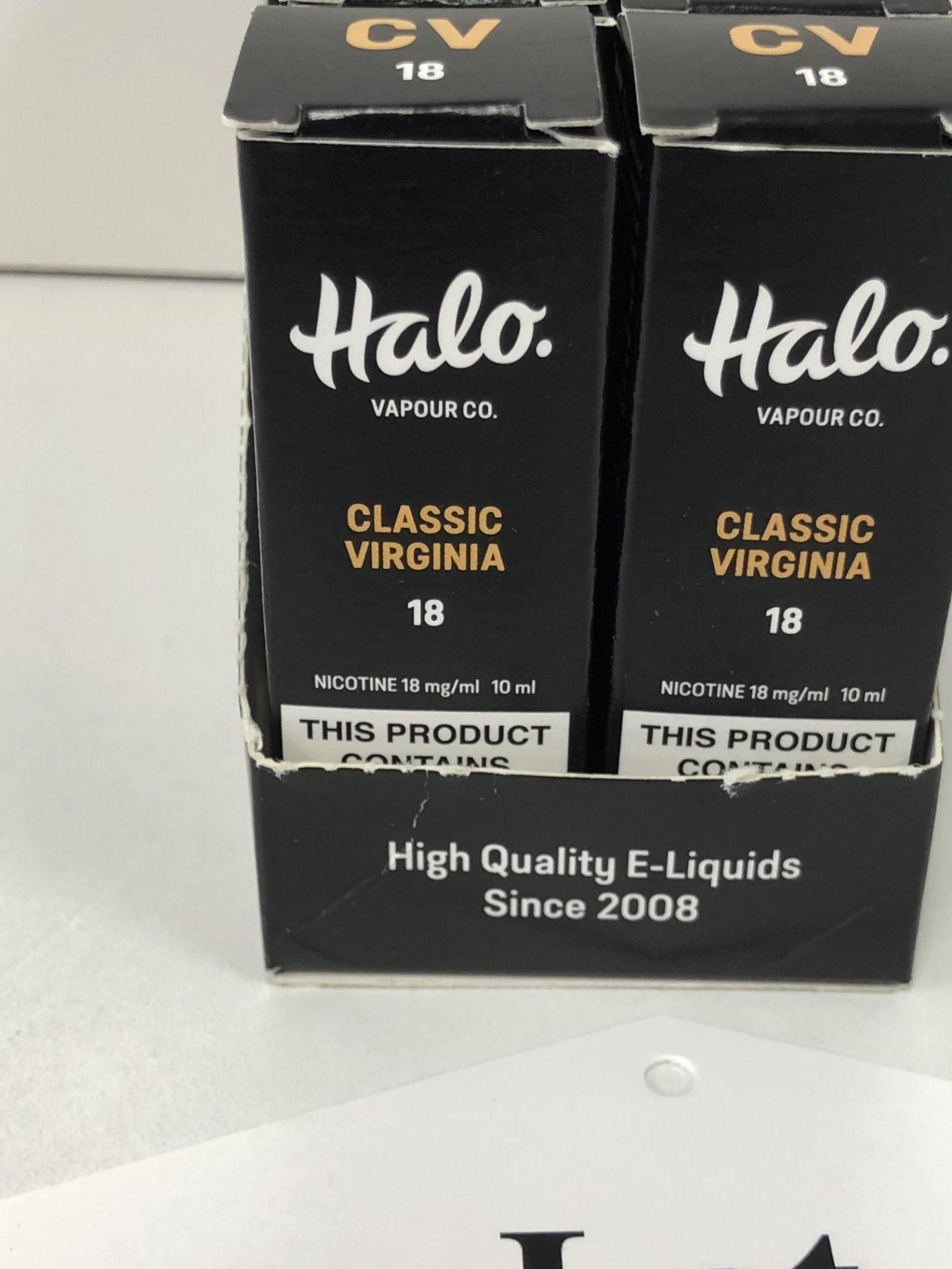 Lotto 253 - 10 x Vapour co Classic virginia Halo 18 Mg/Ml BNIB- 10 ml |96130285