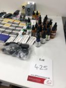 Approximatley 25 x assorted vape, juices, coil tanks and pods as per attached photos ex display