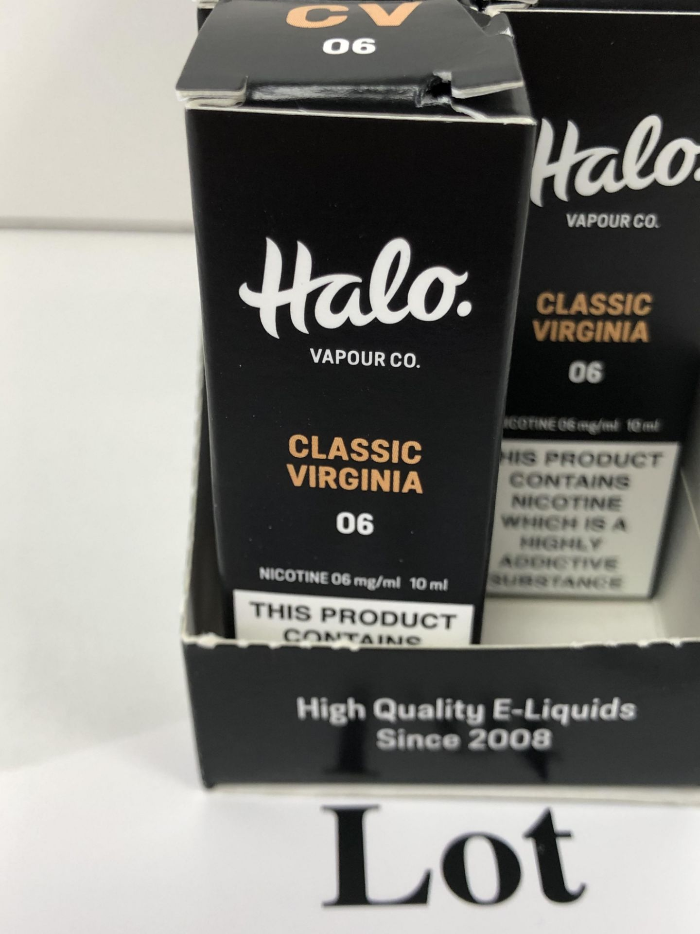 Lotto 209 - 9 x Vapour co Classic Virginia Halo 6 Mg/Ml BNIB- 10 ml |96130261