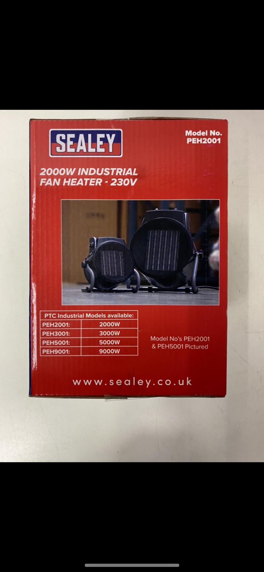 Pair Of Sealey Industrial PTC Fan Heater 230V PEH - Image 3 of 3