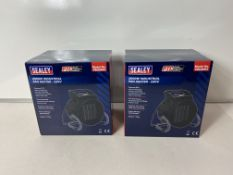 Pair Of Sealey Industrial PTC Fan Heater 230V PEH