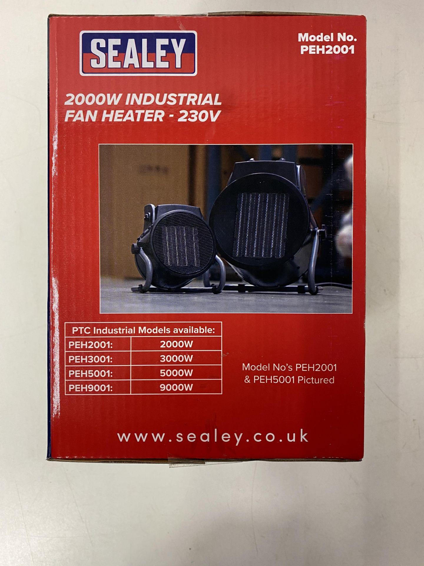 Lot 15 - Pair Of Sealey Industrial PTC Fan Heater 230V PEH