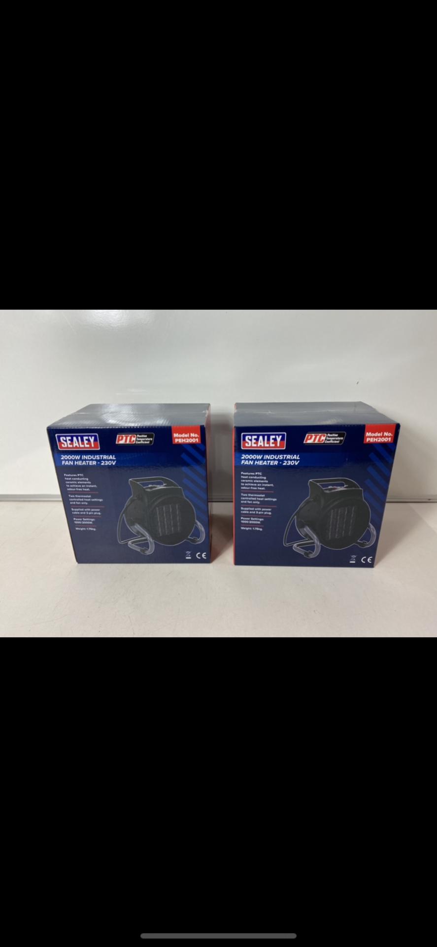Lot 16 - Pair Of Sealey Industrial PTC Fan Heater 230V PEH