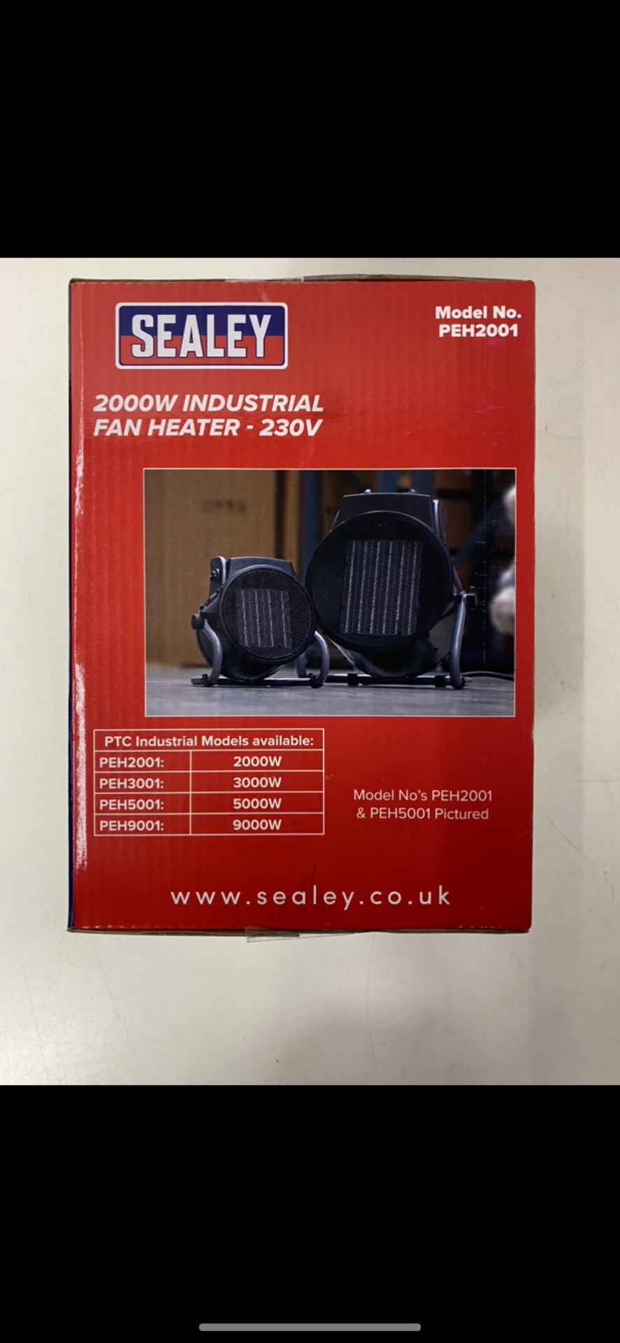Lot 18 - Pair Of Sealey Industrial PTC Fan Heater 230V PEH