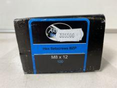 4 x Boxes Of Akeman M8 x 12 Hex Setscrews BZP ( 100 Per Box )