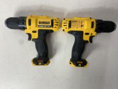 2 x DeWalt DCD710 10.8V XR Cordless Compact Drill Driver (Body Only)