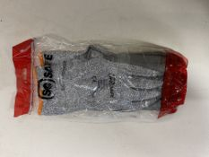 100 Pairs Of So Safe Grey Pu Palm Coated Safety Gloves, Size 10