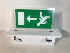 3 x Utica LED Exit Signs w/ Acrylic Signs