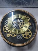 Wall Clock with Exposed Gears