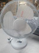 """14"""" White Electric Desk Fan"""