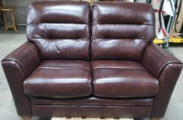 Ex Display 2 Seater Leather Sofa