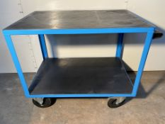 EUROKRAFT ACTIVE GREEN Premium assembly trolley - 2 loading areas made of plastic - Loading area 105