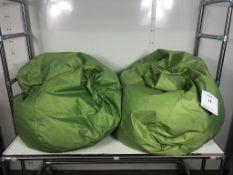 2 x Bean Bag Chairs in Green