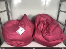 2 x Bean Bag Chairs in Pink