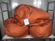 3 x Bean Bag Chairs in Orange