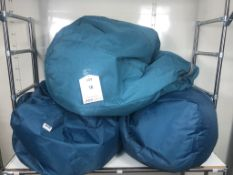 3 x Bean Bag Chairs in Teal