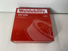 2 x WELDABILITY SIF VZ181015LW A18/G3SI1 MIG WIRE 1.0MM 15KG
