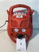 Sealey SAC106B Compressor 6ltr Belt Drive 1.5hp Oil Free