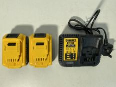DeWalt 18V Batteries And Charger Set